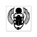 "Egyptian Scarab Symbol Square Sticker 3"" X 3&"