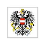 """Austrian Black Eagle Symbol Square Sticker 3"""""""
