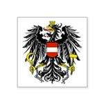 Austrian Black Eagle Symbol Square Sticker 3""