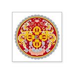 """Bhutan Emblem Square Sticker 3"""" X 3"""""""