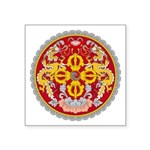 "Bhutan Emblem Square Sticker 3"" X 3"""