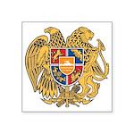 "Armenian Code Of Arms Square Sticker 3"" X 3&q"