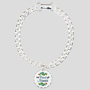 Proud Nannie Charm Bracelet, One Charm