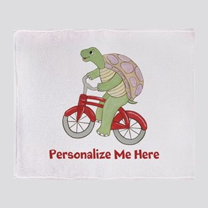 Personalized Bicycle Throw Blanket