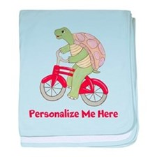 Personalized Bicycle baby blanket
