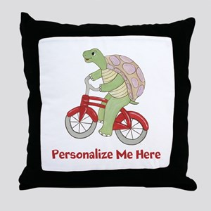 Personalized Bicycle Throw Pillow