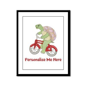 Personalized Bicycle Framed Panel Print