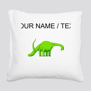 Brachiosaurus (Custom) Square Canvas Pillow