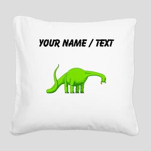 Brachiosaurus (Custom) Square Canvas Pillow