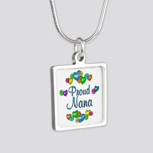 Proud Nana Silver Square Necklace