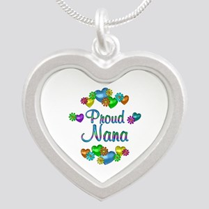 Proud Nana Silver Heart Necklace