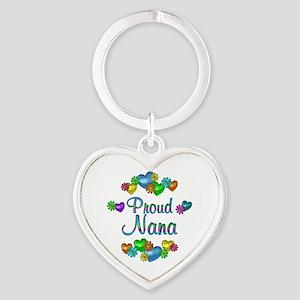 Proud Nana Heart Keychain