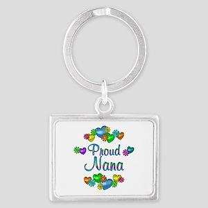Proud Nana Landscape Keychain