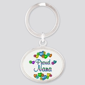 Proud Nana Oval Keychain