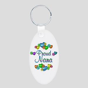 Proud Nana Aluminum Oval Keychain