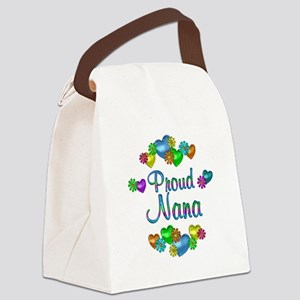 Proud Nana Canvas Lunch Bag