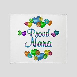 Proud Nana Throw Blanket