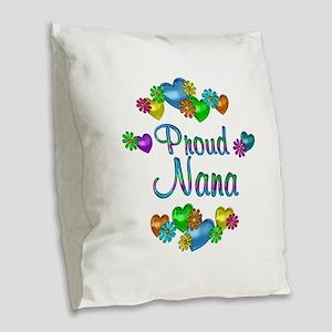 Proud Nana Burlap Throw Pillow