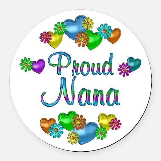 Proud Nana Round Car Magnet