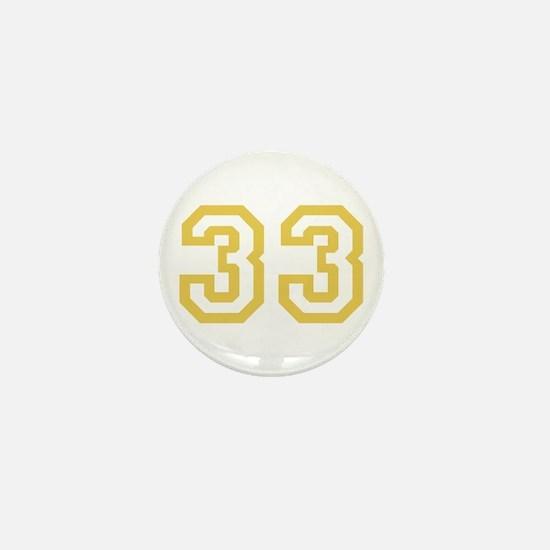 GOLD #33 Mini Button