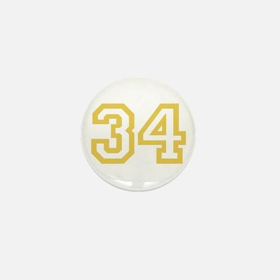 GOLD #34 Mini Button