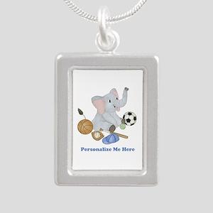 Personalized Sports - El Silver Portrait Necklace