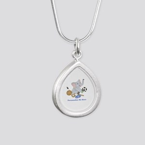 Personalized Sports - El Silver Teardrop Necklace