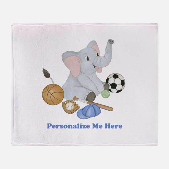 Personalized Sports - Elephant Throw Blanket