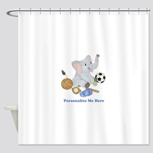 Personalized Sports - Elephant Shower Curtain