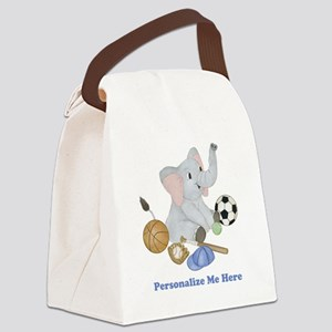 Personalized Sports - Elephant Canvas Lunch Bag