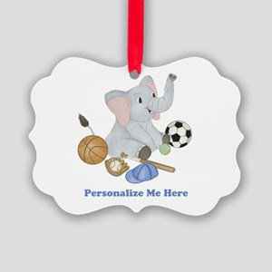 Personalized Sports - Elephant Picture Ornament