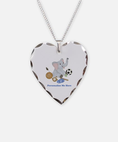 Personalized Sports - Elephan Necklace