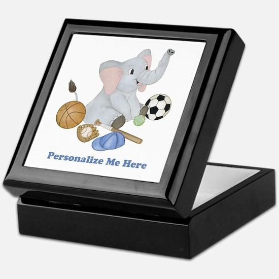 Personalized Sports - Elephant Keepsake Box