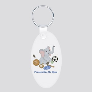 Personalized Sports - Eleph Aluminum Oval Keychain