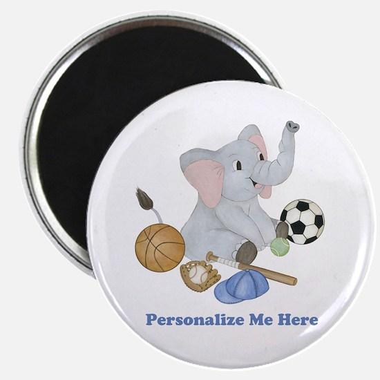 Personalized Sports - Elephant Magnet