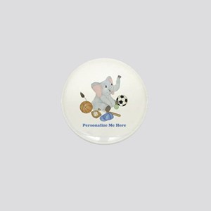 Personalized Sports - Elephant Mini Button