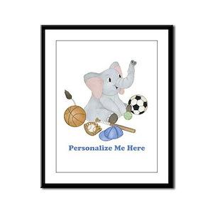 Personalized Sports - Elephant Framed Panel Print