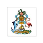 "The Bahamas Coat Of Arms Square Sticker 3"" X"