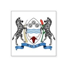 "Coat Of Arms Of Botswana Square Sticker 3"" X"