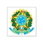 """Coat Of Arms Of Brazil Square Sticker 3"""" X 3&"""