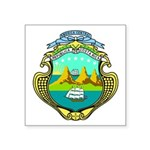 Coat Of Arms Of Costa Rica Square Sticker 3""