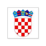 "Croatian Coat Of Arms Square Sticker 3"" X 3&q"