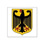 "German Coat Of Arms Square Sticker 3"" X 3&quo"