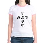 LOVE GOD -CROSS- CHRISTIAN YOUTH Ringer T-shirt