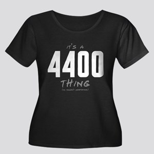 It's a 4400 Thing Women's Dark Plus Size Scoop Nec