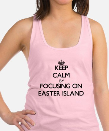 Keep Calm by focusing on Easter Racerback Tank Top