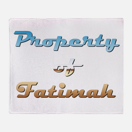 Property Of Fatimah Female Throw Blanket