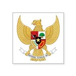 "Indonesian Coat Of Arms Square Sticker 3"" X 3"