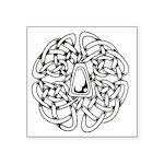 """Celtic Knot Circle Symbol Square Sticker 3"""" X"""