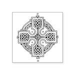 "Celtic Cross Symbol Square Sticker 3"" X 3&quo"